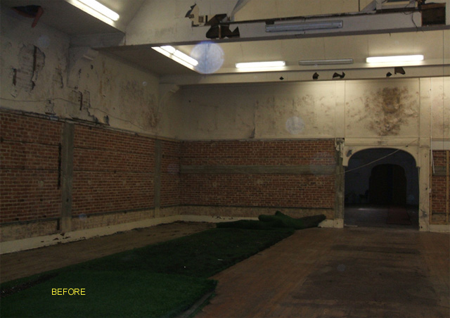 condition of the former art gallery after being let to rugby franchise