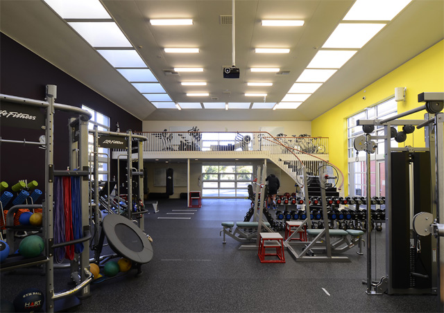 former sculpture gallery converted to gym